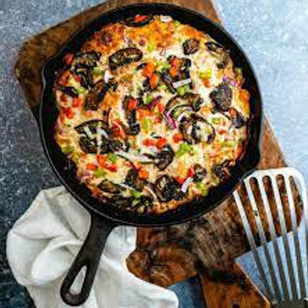 طرز تهیه پیتزا در تابه